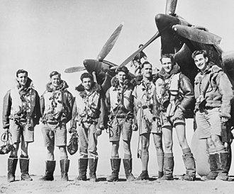 Article XV squadrons - A bomber crew from No. 462 Squadron RAAF in September 1942. While the squadron was officially a unit of the Royal Australian Air Force, only the man third from the right was Australian; the others are from Britain, Newfoundland and New Zealand