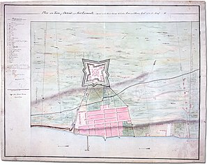 Siege of Detroit - Plan of Detroit and its fort, 1792