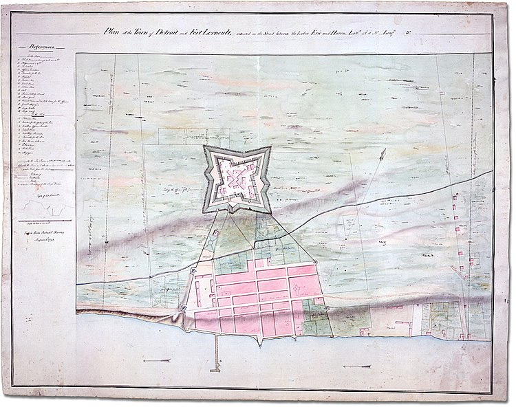 Plan of the Town of Detroit and Fort Lernoult, 1792.
