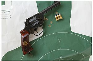 Enfield No. 2 - One hand rapid fire group with Enfield 38/200