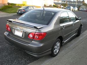 A 9th generation gray Toyota Corolla S (model ...
