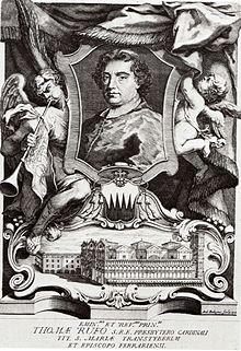 Ritratto del cardinale Tommaso Ruffo che curò il rifacimento della cattedrale