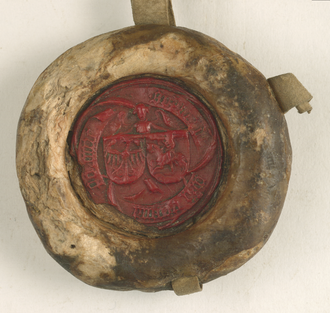 Sophia of Halshany - Seal of Sophia from a 1435 document