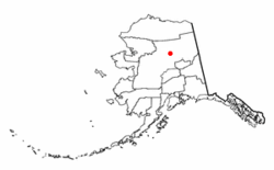 Location of Stevens Village, Alaska