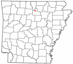 Location of Fifty-Six, Arkansas