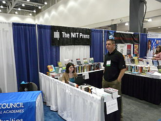 MIT Press - Display of publications at conference booth in 2008
