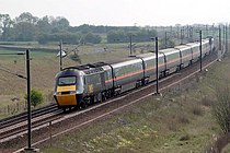 A GNER InterCity 125 near York. The InterCity 125 set the current world speed record for a diesel train (148 mph) near Thirsk in 1987. A HST heads North to York - geograph.org.uk - 330481.jpg