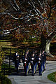 A U.S. Army honor guard begins its march to the Tomb of the Unknowns at Arlington National Cemetery in Arlington, Va., during a Veterans Day wreath-laying ceremony Nov. 11, 2013 131111-D-DB155-012.jpg