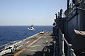 A U.S. Marine Corps AH-1W Super Cobra helicopter assigned to Marine Medium Tiltrotor Squadron (VMM) 266 takes off from the amphibious assault ship USS Kearsarge (LHD 3) in the Red Sea April 7, 2013 130407-N-GF386-243.jpg