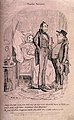 A bemused husband querying a doctor as to how his wife of on Wellcome V0010987.jpg