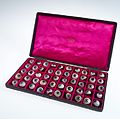 A case filled with a selection of 50 glass eye Wellcome L0036573.jpg