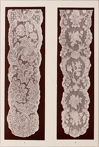 Lappet - Two eighteenth-century lace lappets