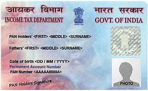A sample of Permanent Account Number (PAN) Card.jpg