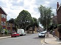 Abbeyville Road, Clapham, with shops in the distance - geograph.org.uk - 1394083.jpg