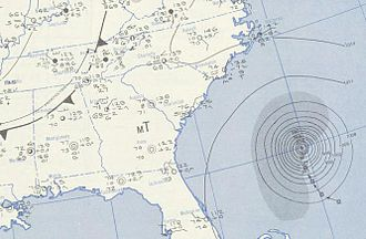 1950 Atlantic hurricane season - Image: Able 1950 08 19 weather map