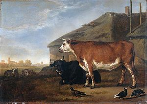 Abraham van Calraet - Cattle piece, 1670.