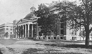Academic Hall - Academic Hall, after the addition of wings in 1885