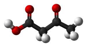 Acetoacetic acid - Image: Acetoacetic acid 3D balls