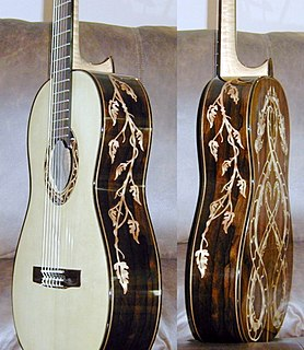 Inlay (guitar) Decorative material set into the wooden surface