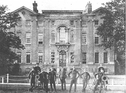 Addiscombe Seminary, photographed in c.1859, with cadets in the foreground Addiscombe Seminary photo c.1859.jpg