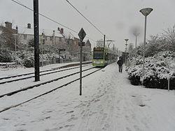 Addiscombe tram stop in snow c2010.JPG