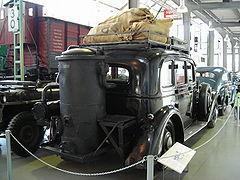 voiture allemande adler diplomat 1938 munie dun gazog232ne