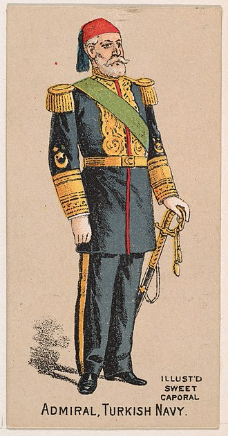 Turkish Naval Forces - Admiral of the Ottoman Navy, late 19th century