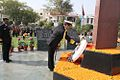 Admiral RK Dhowan laying a wreath at the Noida Shaheed Smarak in February 2015.JPG