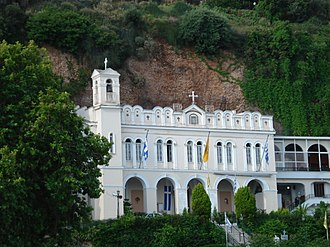 Aigio - The sacred shrine of Panagia Trypiti.