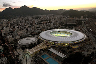 Venues of the 2016 Summer Olympics and Paralympics - The Maracanã Stadium and the Maracanãzinho arena (left).