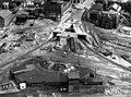 Aerial detail view of Bridge Street overpass project, June 1951 (cropped).jpg