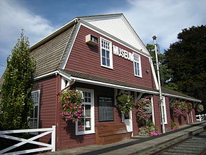 Agassiz station (British Columbia) - The stop is trackside at the Agassiz-Harrison Museum