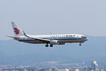 Air China ,CA857 ,Boeing 737-89L ,B-5582 ,Arrived from Naha ,Kansai Airport (16810258815).jpg