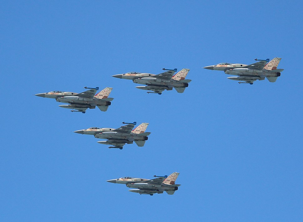 Air Force Fly By on Tel Aviv Beach IMG 6014a