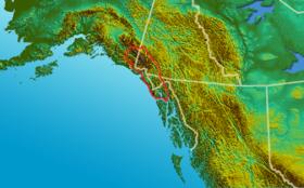 Carte de localisation de la chaîne Saint-Élie.