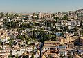 Albaizin, Mirador San Nicolas, from Alhambra, Granada, Andalusia, Spain.jpg
