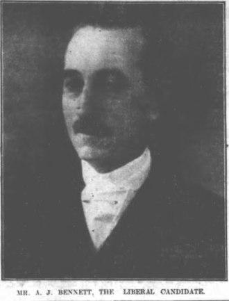 Sir Albert Bennett, 1st Baronet - Image: Albert James Bennett 1922