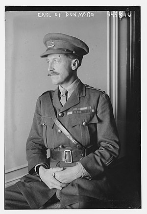 Alexander Murray, 8th Earl of Dunmore - Alexander Murray, 8th Earl of Dunmore in 1917