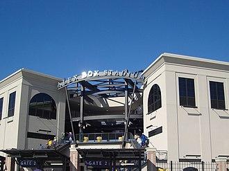 Alex Box Stadium, Skip Bertman Field - Image: Alexbox 3 outside
