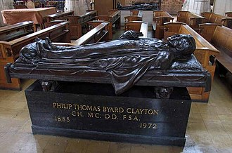 Tubby Clayton - Effigy of Tubby Clayton in All Hallows-by-the-Tower