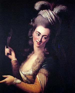 Aloysia Weber - Aloysia Weber as Zémire in André Grétry's opera Zémire et Azor, painting by Johann Baptist von Lampi the Elder