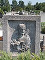 Alszegi cemetery, grave relief, 2019 Kunszentmiklós.jpg
