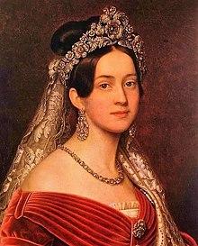 Königin Amalie von Griechenland (Gemälde von Joseph Karl Stieler) (Quelle: Wikimedia)