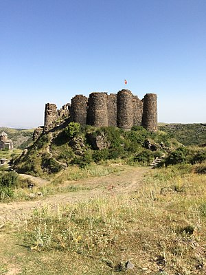 Amberd - View of remains of Amberd fortress's exterior