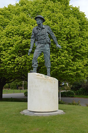Charles Upham - Charles Upham statue in Amberley.