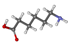 Aminocaproic acid ball-and-stick.png