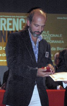 Receiving Award from Florence Biennale
