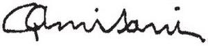 Giuseppe Amisani - Image: Amisani firma