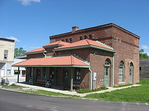 National Register of Historic Places listings in Hendricks County, Indiana - Image: Amo THI & E Interurban Depot Substation