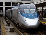 Amtrak Acela 2027 at South Station, September 2011.jpg